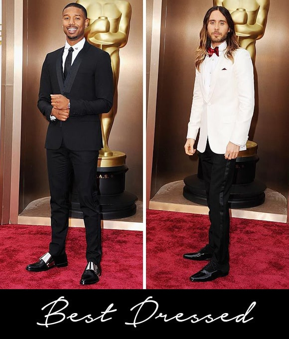 Michael B. Jordan and Jared Leto are best dressed at the 2014 Oscars