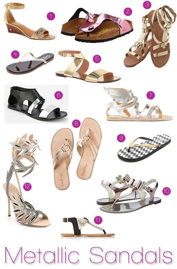 Spring 2014 Trends: Metallic Sandals