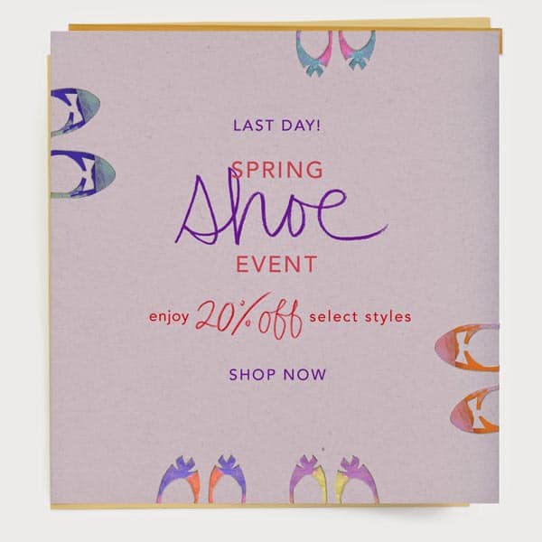 Anthropologie Shoe Sale: 20% Off