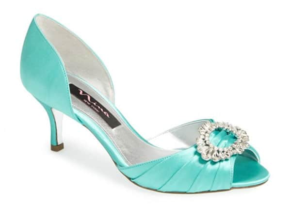 Nina Crystah Tiffany Blue Embellished Wedding Pump