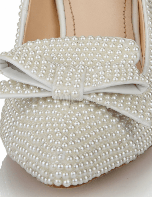 charming white stilletos