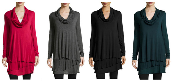 Cowl Neck Tiered Tunic