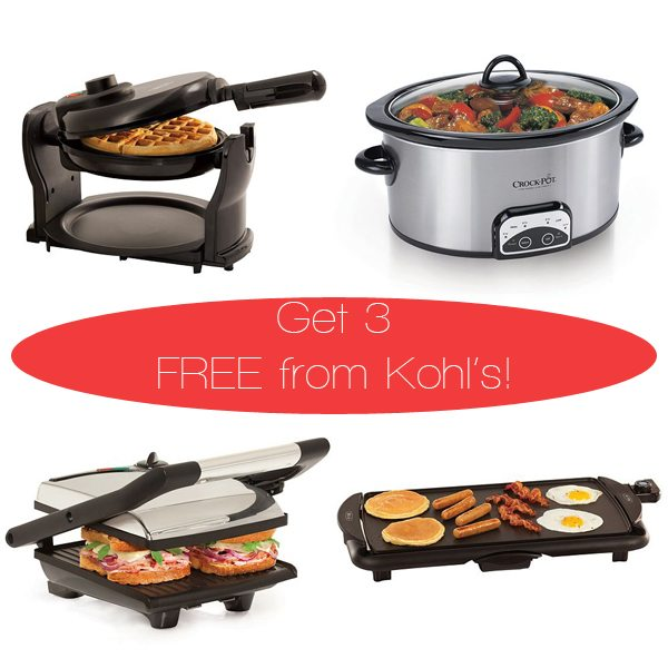 Get 3 small kitchen appliances free from Kohl's