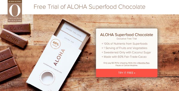 Aloha Superfood Chocolate