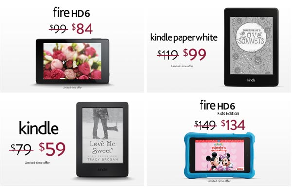 Amazon Kindle & Fire Valentine's Day Sale