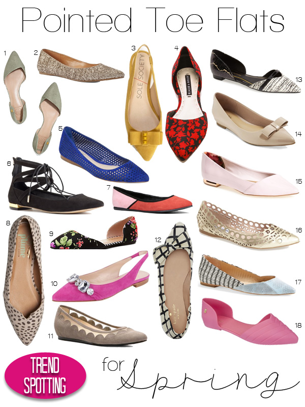 Pointed Toe Flats for Spring
