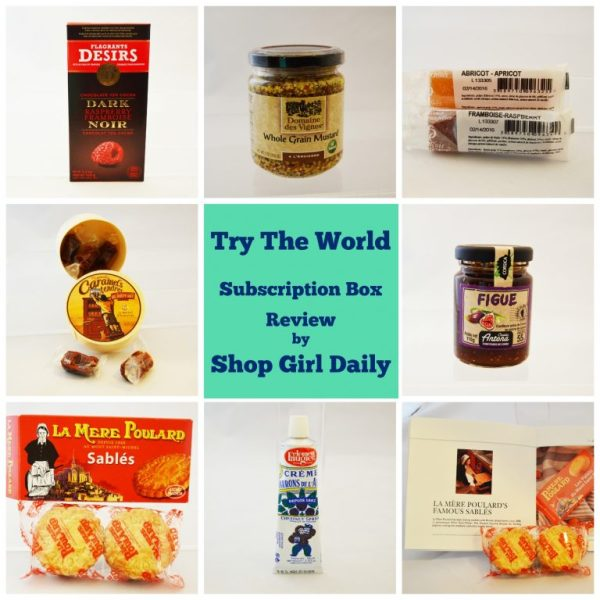 Try The World Subscription Box: Paris Contents