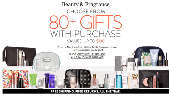 Nordstrom Sale: Free Beauty Gifts with Purchase