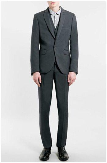 Topman Skinny Fit Grey Suit