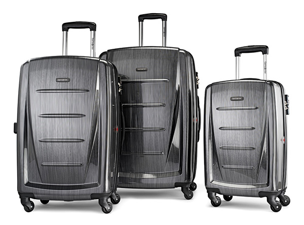 Samsonite Winfield Spinner Suitcases are on sale at Zulily.