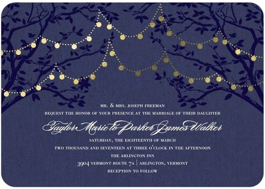 Blue Foil Stamped Wedding Invitation from Wedding Paper Divas