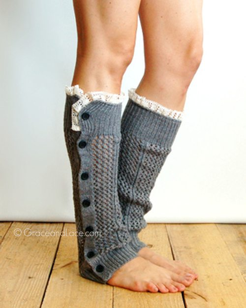 Grace and Lace Nellie Knit Leg Warmers