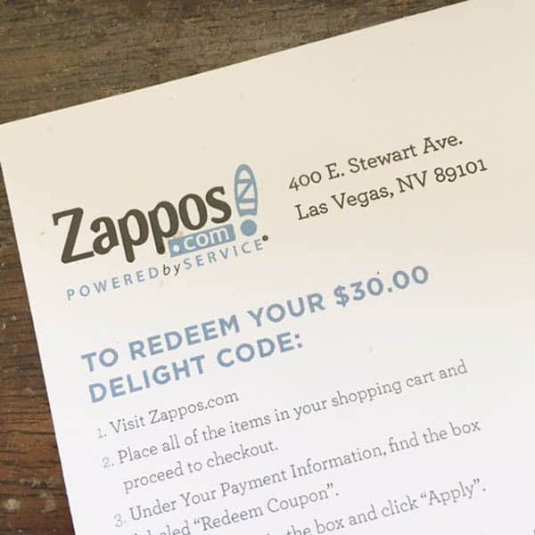 Free $30 from Zappos