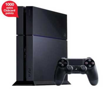 PS4 tesco 1000 extra clubcard points