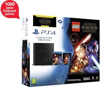 Lego Star Wars + Force Awakens Blu-ray PS4 1TB Console