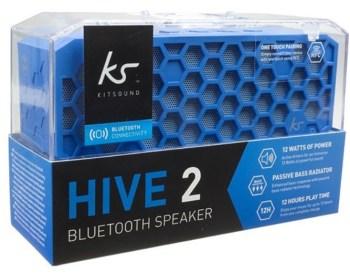 Kitsound Hive 2 Blue Bluetooth Wireless Portable Stereo Speaker