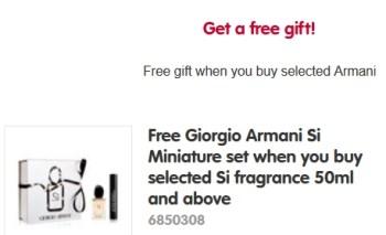 free gift boots giorgio armani
