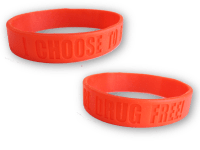Red Ribbon Week Silicone Wristband