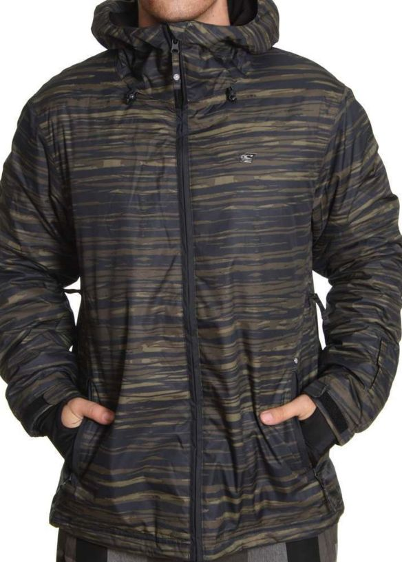 ONEILL ESCAPE SHIBORI SNOW JACKET Green AOP