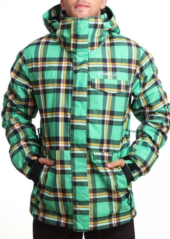ONEILL GRID SNOW JACKET Green AOP