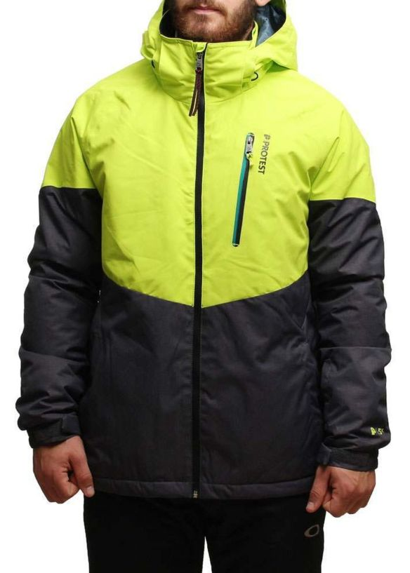 PROTEST OPTICAL SNOW JACKET Lime