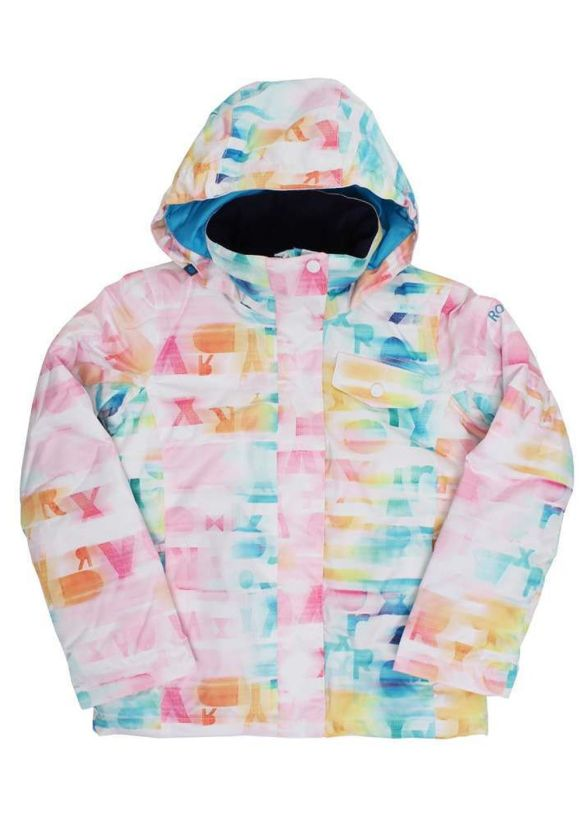 ROXY GIRLS JETTY PRINT SNOW JACKET Bright White