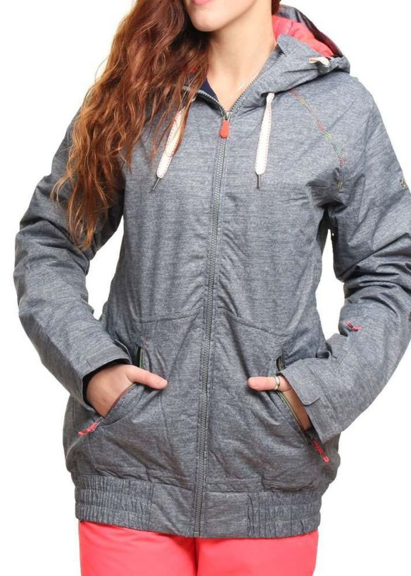 ROXY VALLEY HOODIE SNOW JACKET Heather