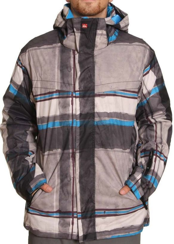QUIKSILVER LAST MISSION 2 SNOW JACKET Pier Black