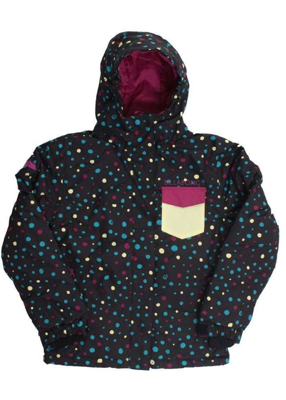 BILLABONG GIRLS LADYBUG SNOW JACKET Black