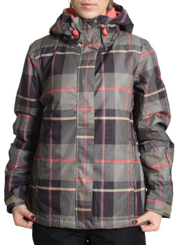 ROXY JET SNOW JACKET Silverlake Plaid