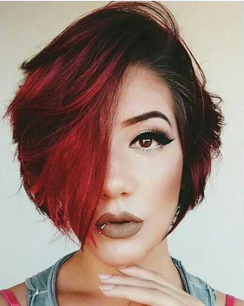 Short Asymmetrical Haircut