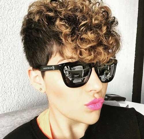 Curly Pixie Cut