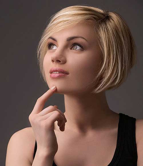 Blonde Bob Short Haircuts for Round Faces