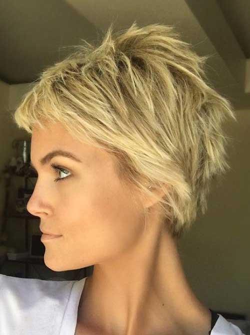 Krissa Fowles Short Choppy Hairstyle