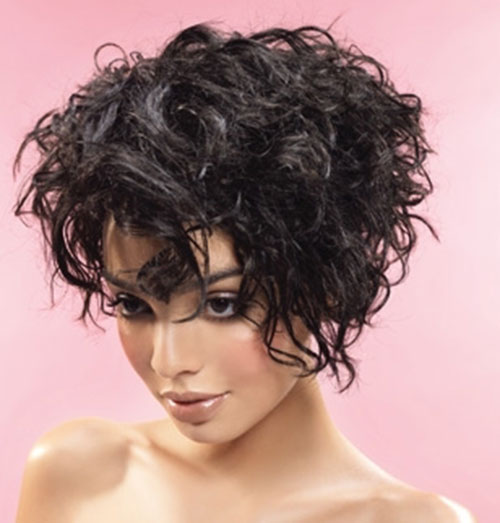 short hairstyles thick curly