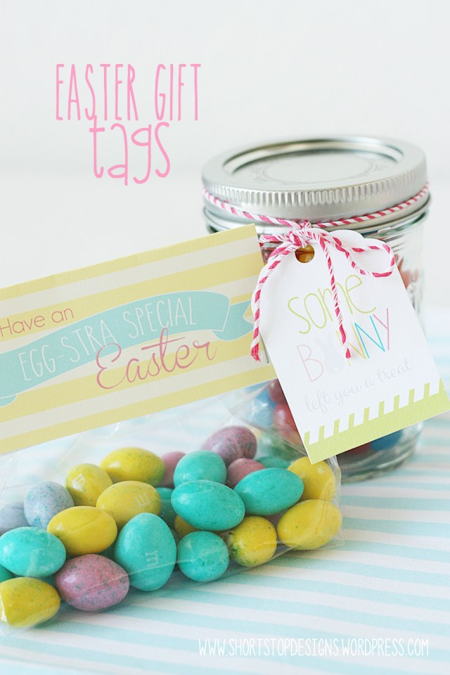 Easter Gift Tag Display