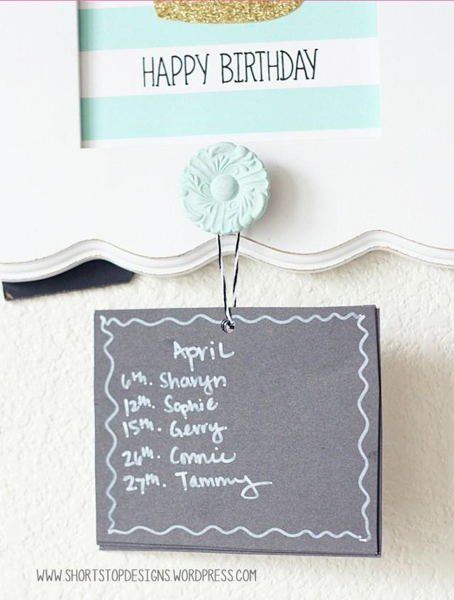 Birthday Calendar 4