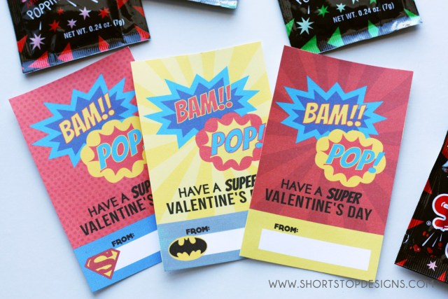 SUPER HERO VALENTINE'S DAY CARD PRINTABLES