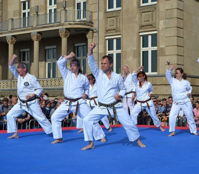 Shotokan Karate Haan demonstratie Japan-dag Dusseldorf