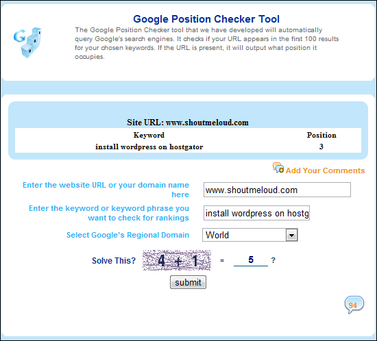 Google Position Checker