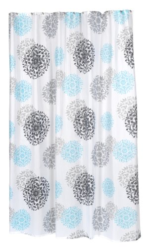 Carnation Home Fashions 100 Percent Polyester Fabric 70 By 84 Inch Shower Curtain X Long Isabella Multi Color Print