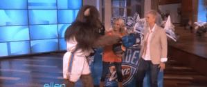 Rumble Gives Ellen the Finger