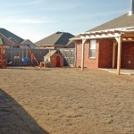 large back yard for sale