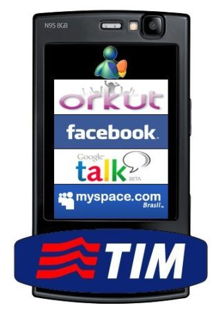 TIM orkut facebook myspace msn