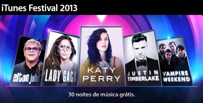 iTunes Festival 2013 traz Lady Gaga, Katy Perry e muitos mais / reprodução