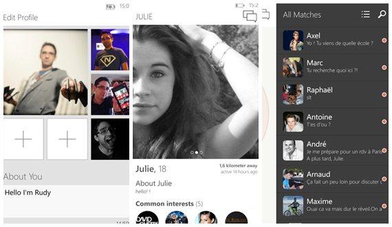 6tinder - aplicativo não oficial do Tinder para Windows Phone