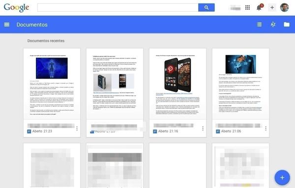 Google Documentos Planilhas e Apresentacoes ganham nova cara com Material Design  Documentos