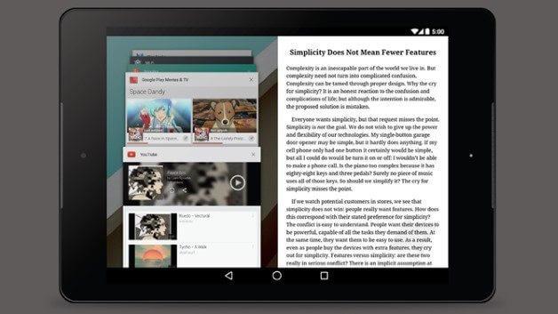 Google faz experiencias com o modo Multi-Janela para Android_1