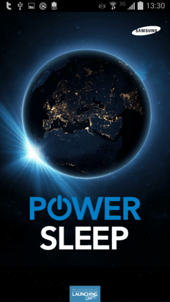 Samsung Power Sleep - tela de abertura