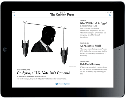 NY Times iPad mobile iPhone